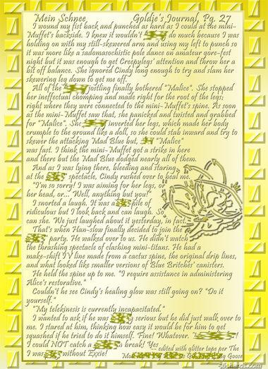 """""""Mein Schnee"""" 125: Goldie's Journal, Pg.27"""