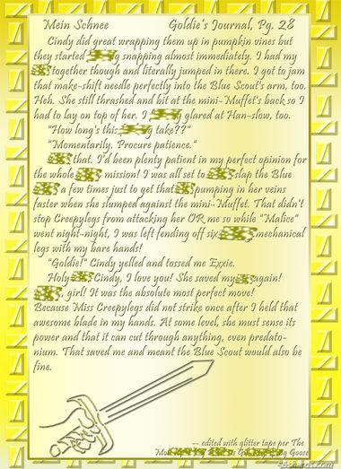 """""""Mein Schnee"""" 127: Goldie's Journal, Pg.28"""