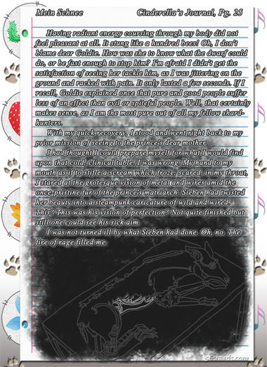 """""""Mein Schnee"""" 131: Cinderella's Journal, Pg.25"""