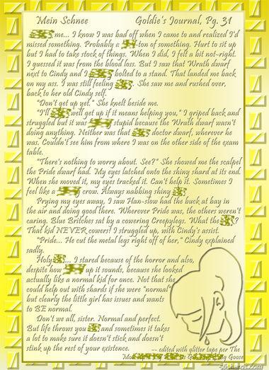 """""""Mein Schnee"""" 148: Goldie's Journal, Pg.31"""