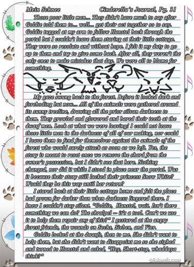"""""""Mein Schnee"""" 161: Cinderella's Journal, Pg.31"""