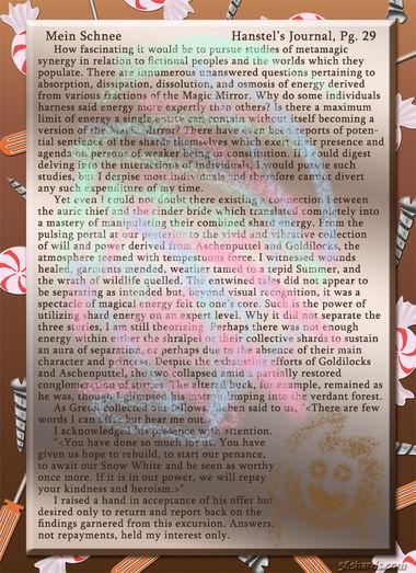 """""""Mein Schnee"""" 165: Hanstel's Journal, Pg.29"""