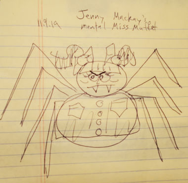 Miss Muffet by Jenny Mackay