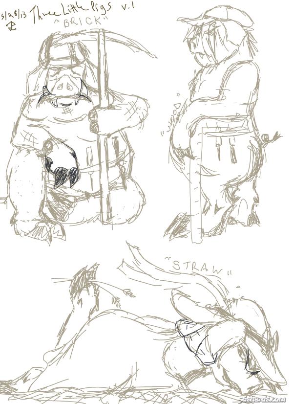 Good 3 Pigs sketch