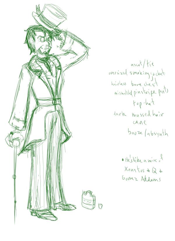 Wizard of Oz concept sketch