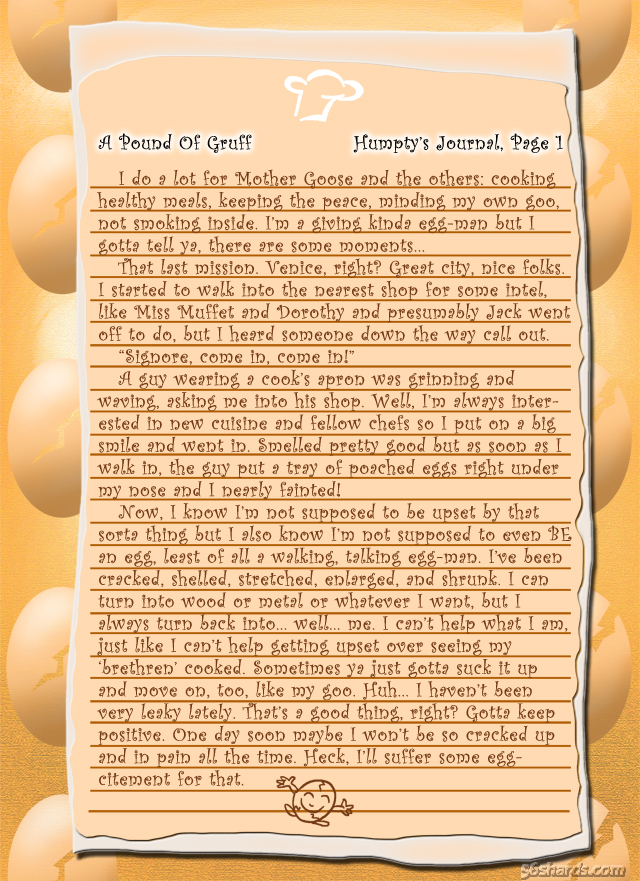 """A Pound Of Gruff"": Humpty, Pg. 1"