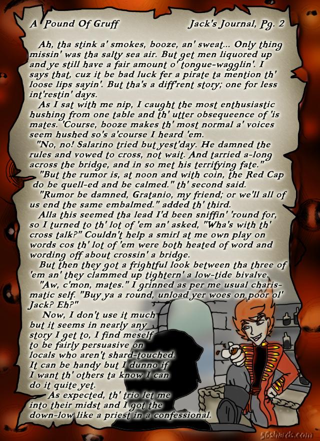 """A Pound Of Gruff"": Jack's Journal, Pg. 2"