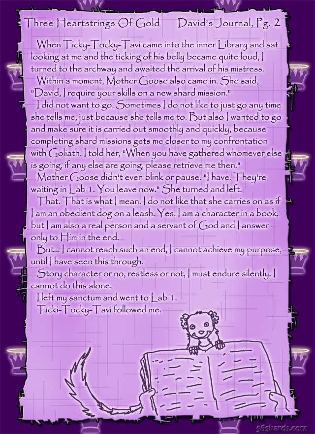 """Three Heartstrings Of Gold"" 6: David's Journal, Pg. 2"