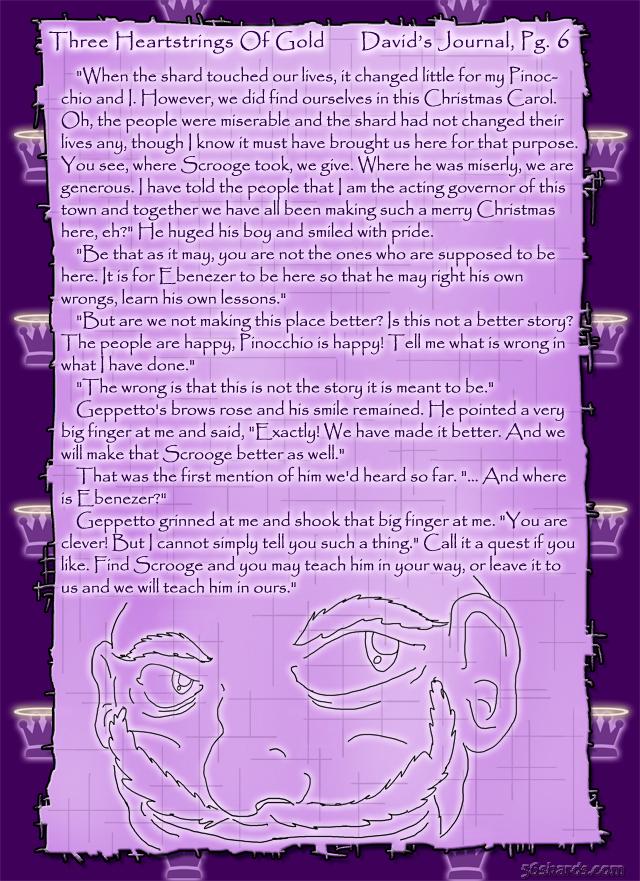 """Three Heartstrings Of Gold"" 22: David's Journal, Pg.6"