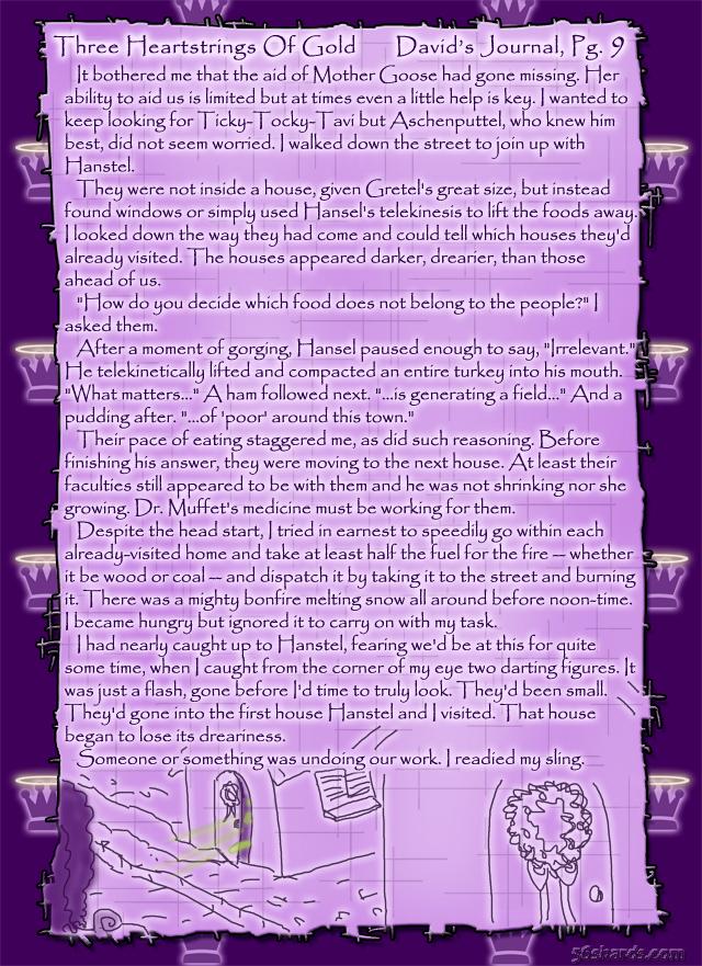 """Three Heartstrings Of Gold"" 34: David's Journal, Pg. 9"