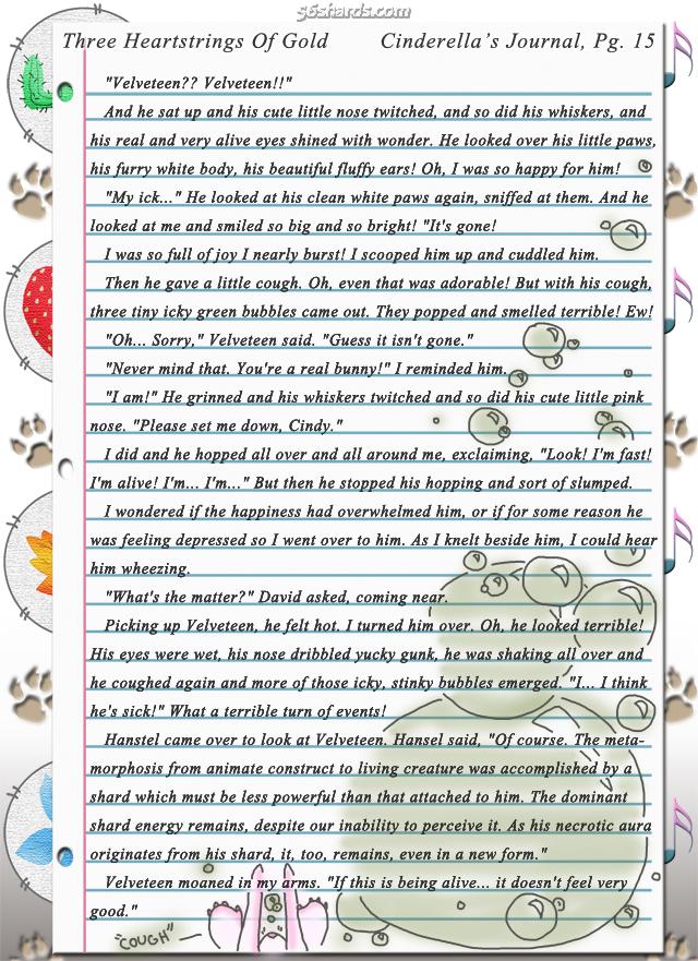 """Three Heartstrings Of Gold"" 48: Cinderella's Journal, Pg. 15"