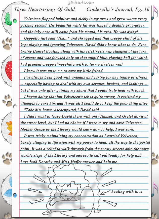 """Three Heartstrings Of Gold"" 50: Cinderella's Journal, Pg. 16"