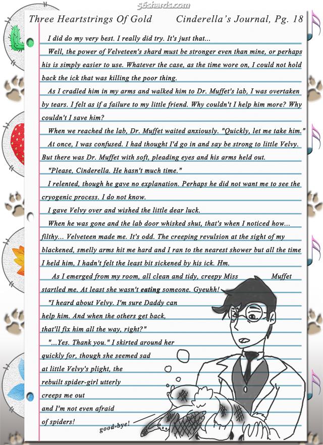 """Three Heartstrings Of Gold"" 64: Cinderella's Journal, Pg. 18"