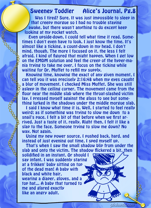 """Sweeney Toddler"" 22: Alice's Journal, Pg.8"