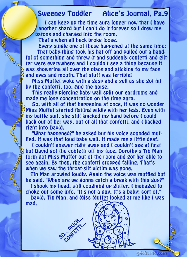 """Sweeney Toddler"" 23: Alice's Journal, Pg.9"