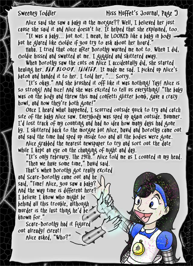 """Sweeney Toddler"" 24: Miss Muffet's Journal, Pg.5"