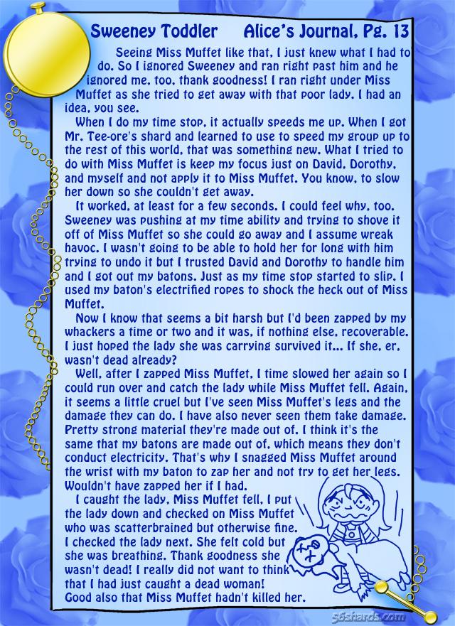 """Sweeney Toddler"" 44: Alice's Journal, Pg.13"