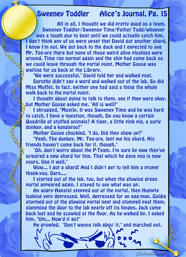 """Sweeney Toddler"" 52: Alice's Journal, Pg.15"
