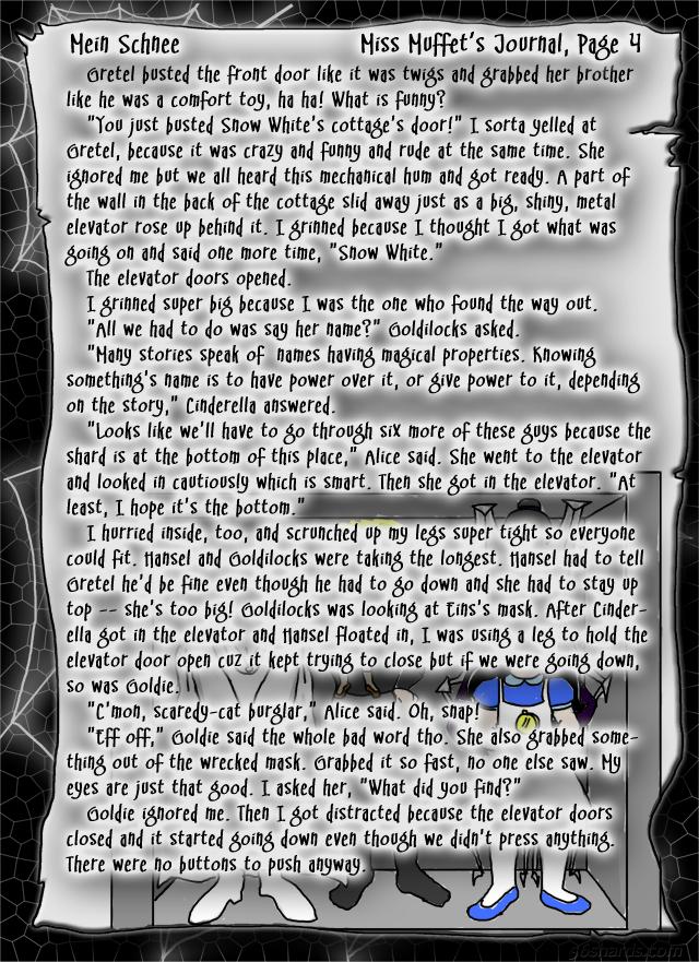 """""""Mein Schnee"""" 19: Miss Muffet's Journal, Pg.4"""