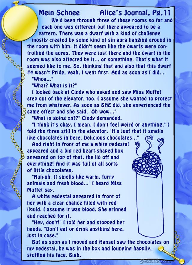 """""""Mein Schnee"""" 55: Alice's Journal, Pg.11"""