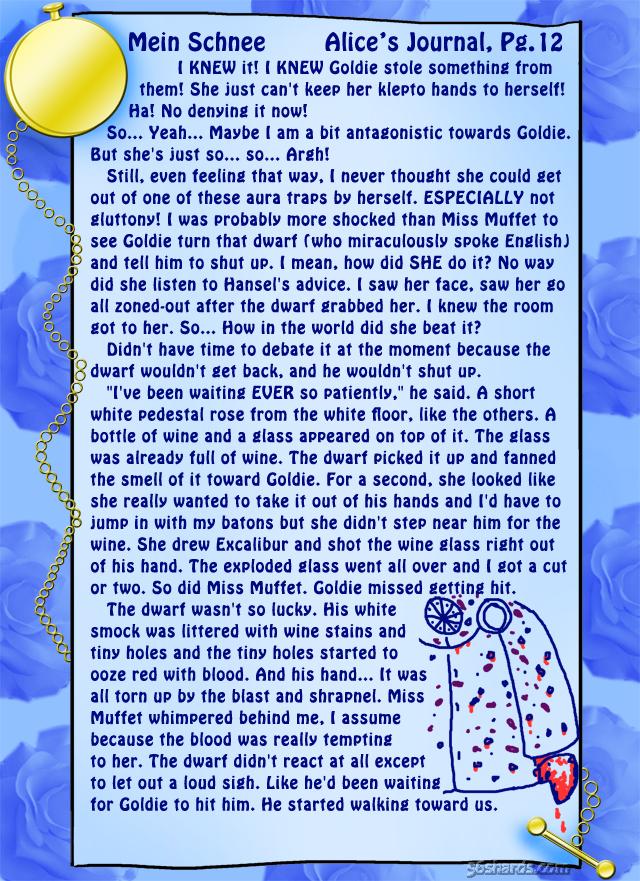 """""""Mein Schnee"""" 59: Alice's Journal, Pg.12"""