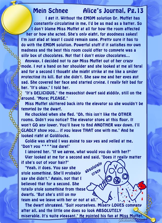 """""""Mein Schnee"""" 62: Alice's Journal, Pg.13"""