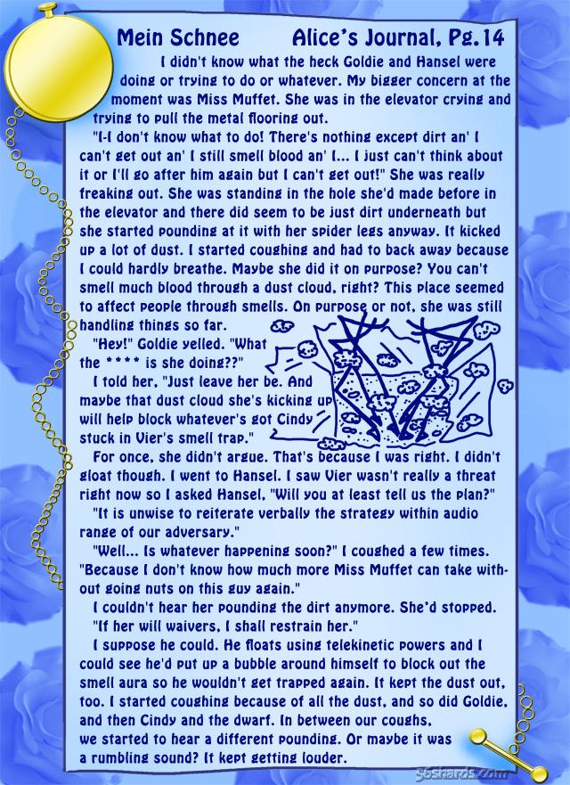 """""""Mein Schnee"""" 66: Alice's Journal, Pg.14"""