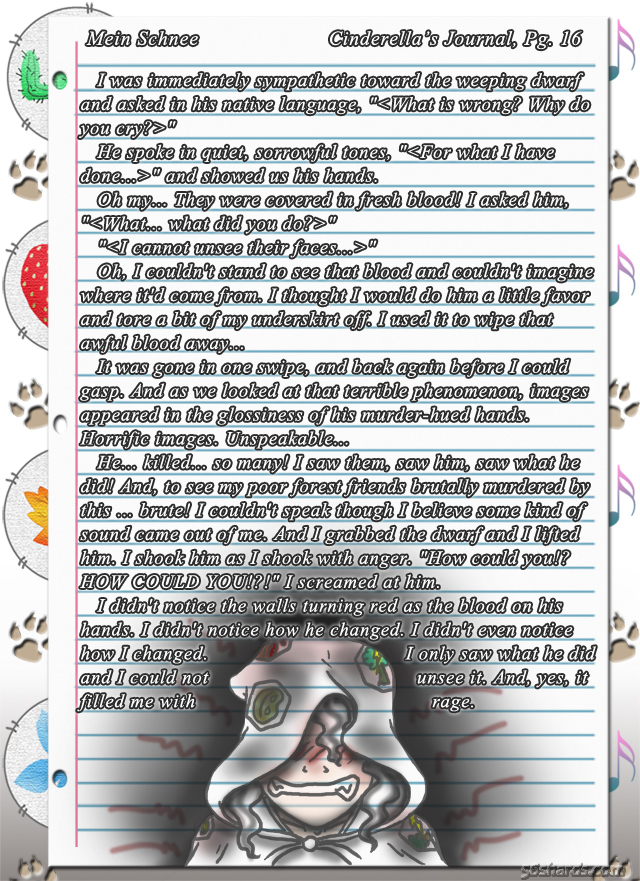 """""""Mein Schnee"""" 91: Cinderella's Journal, Pg.16"""