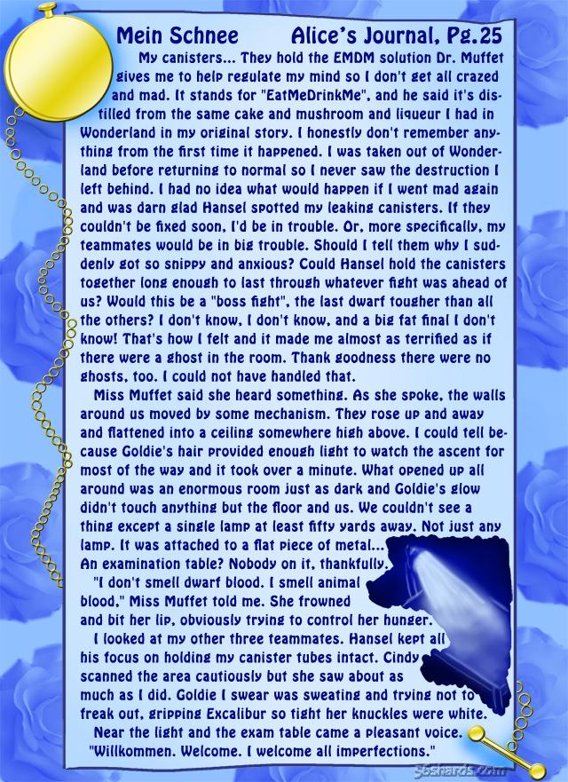 """""""Mein Schnee"""" 110: Alice's Journal, Pg.25"""