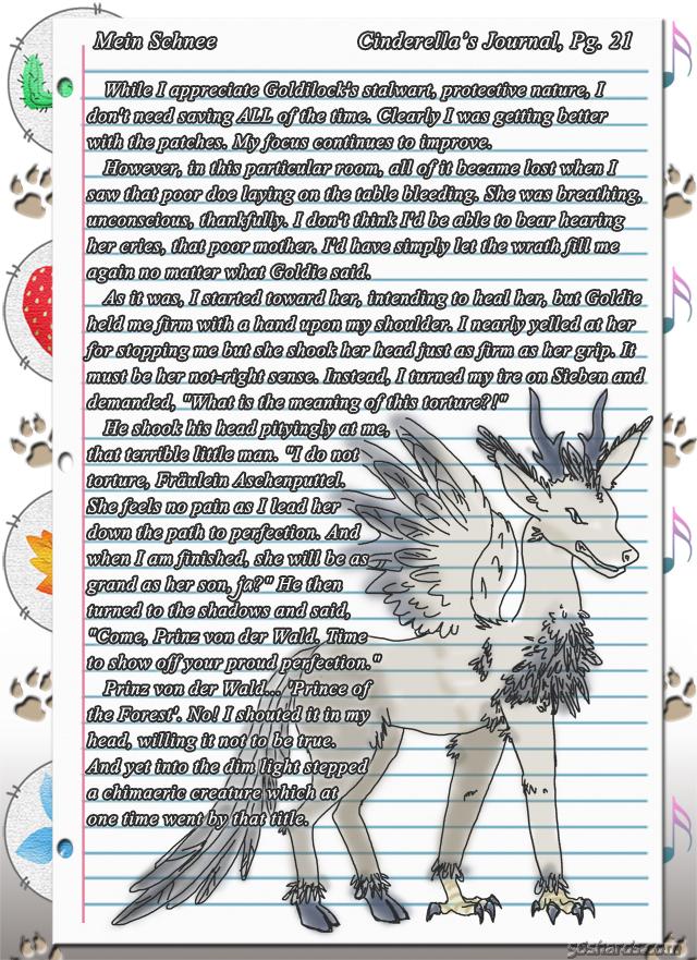 """""""Mein Schnee"""" 115: Cinderella's Journal, Pg.21"""