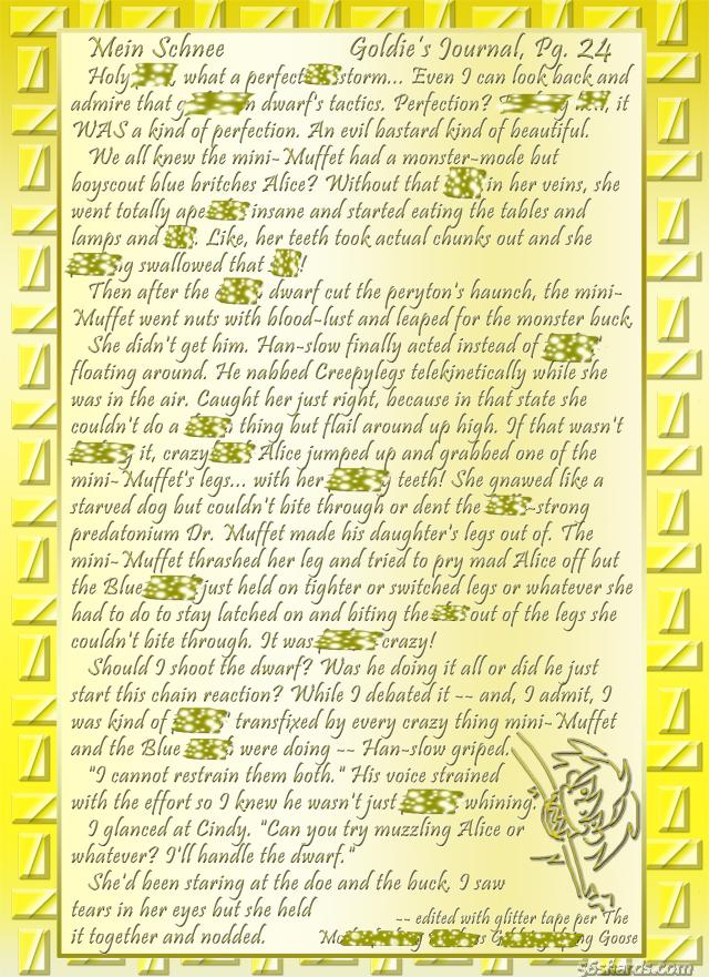 """""""Mein Schnee"""" 118: Goldie's Journal, Pg.24"""