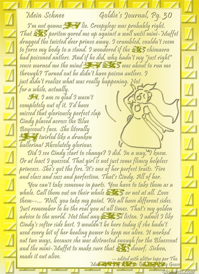 """""""Mein Schnee"""" 136: Goldie's Journal, Pg.30"""