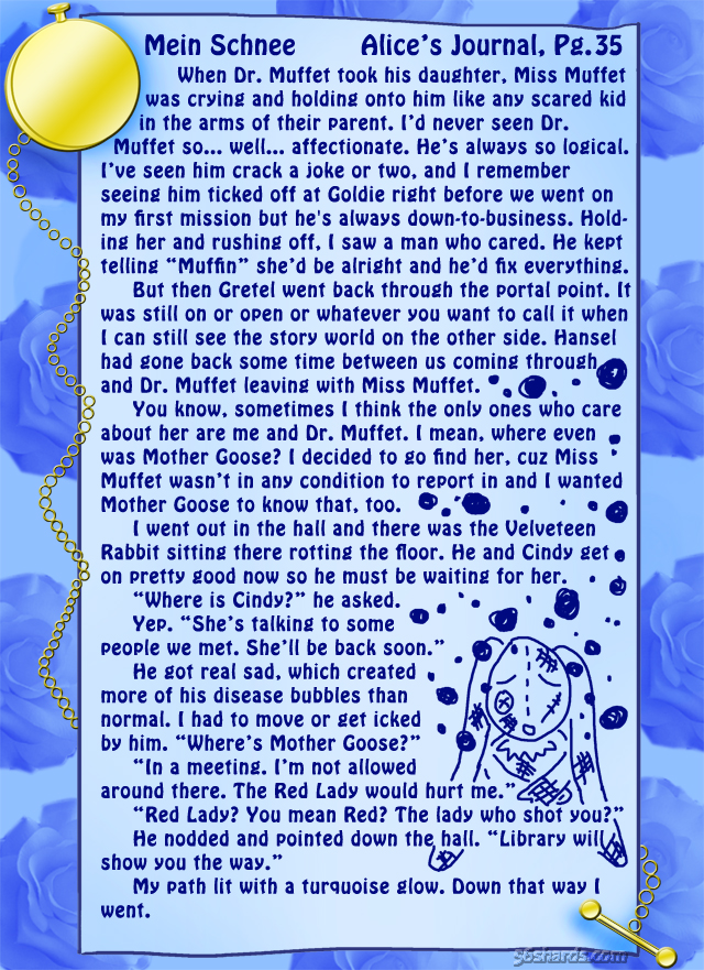 """""""Mein Schnee"""" 157: Alice's Journal, Pg.35"""
