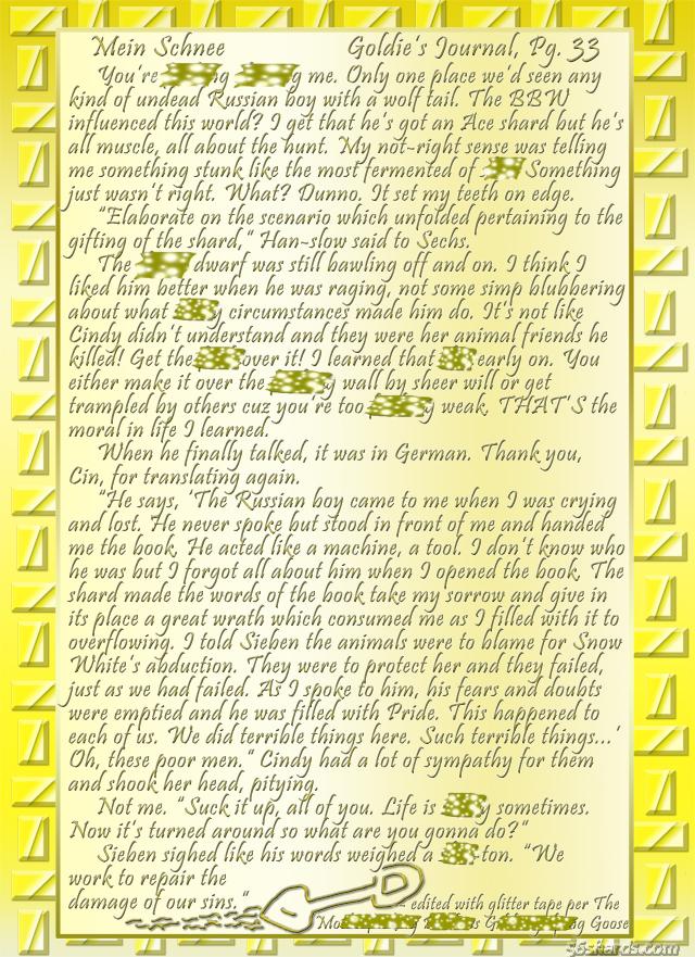 """""""Mein Schnee"""" 158: Goldie's Journal, Pg.33"""
