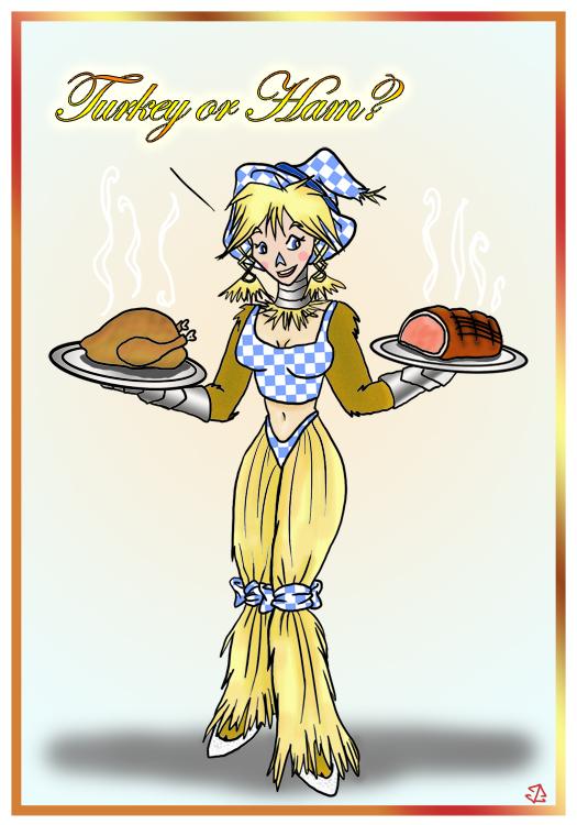 Scarecrow Dorothy: Turkey Day 2010