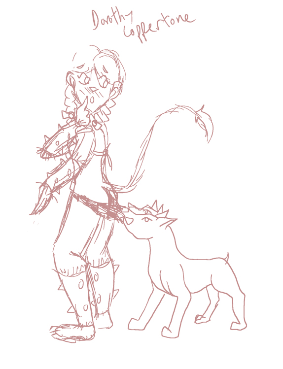 Coppertone Dorothy Sketch