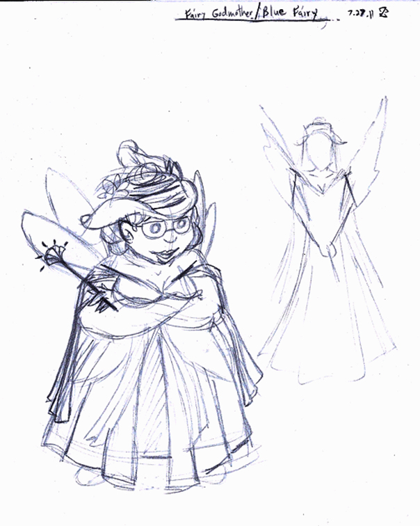 Blue Fairy Godmother sketch