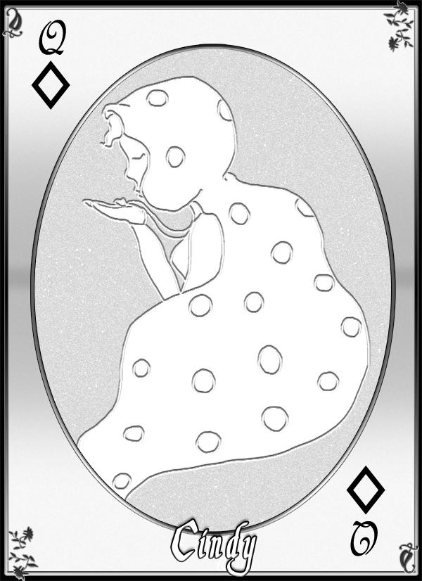 Queen of Diamonds Card: Cindy