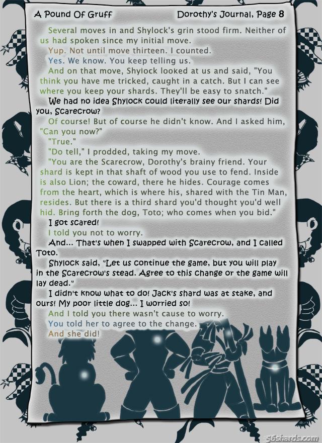 """A Pound Of Gruff"": Dorothy's Journal, Pg. 8"