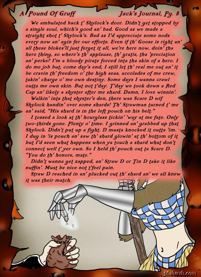 """A Pound Of Gruff"": Jack's Journal, Pg. 8 – redo"