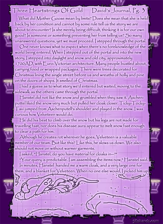 """Three Heartstrings Of Gold"" 10: David's Journal, Pg. 3"