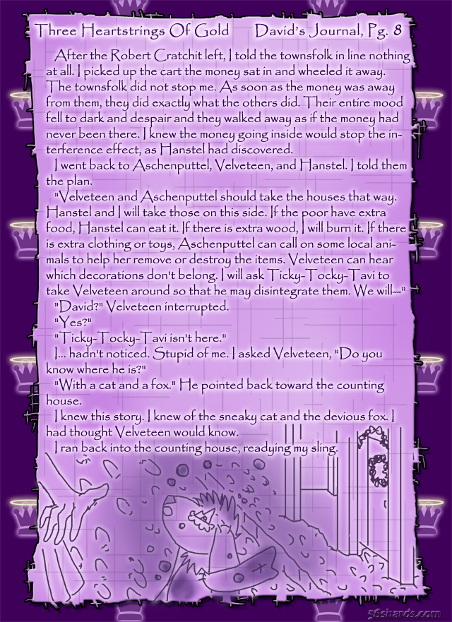 """Three Heartstrings Of Gold"" 29: David's Journal, Pg. 8"