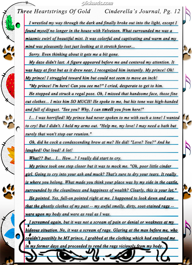 """Three Heartstrings Of Gold"" 41: Cinderella's Journal, Pg. 12"