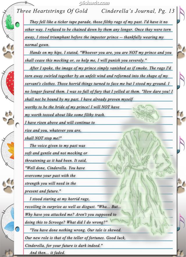 """Three Heartstrings Of Gold"" 43: Cinderella's Journal, Pg. 13"