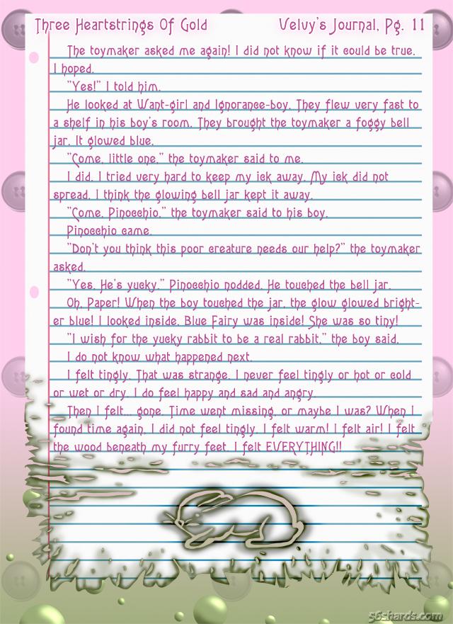 """""""Three Heartstrings Of Gold"""" 46: Velvy's Journal, Pg. 11"""