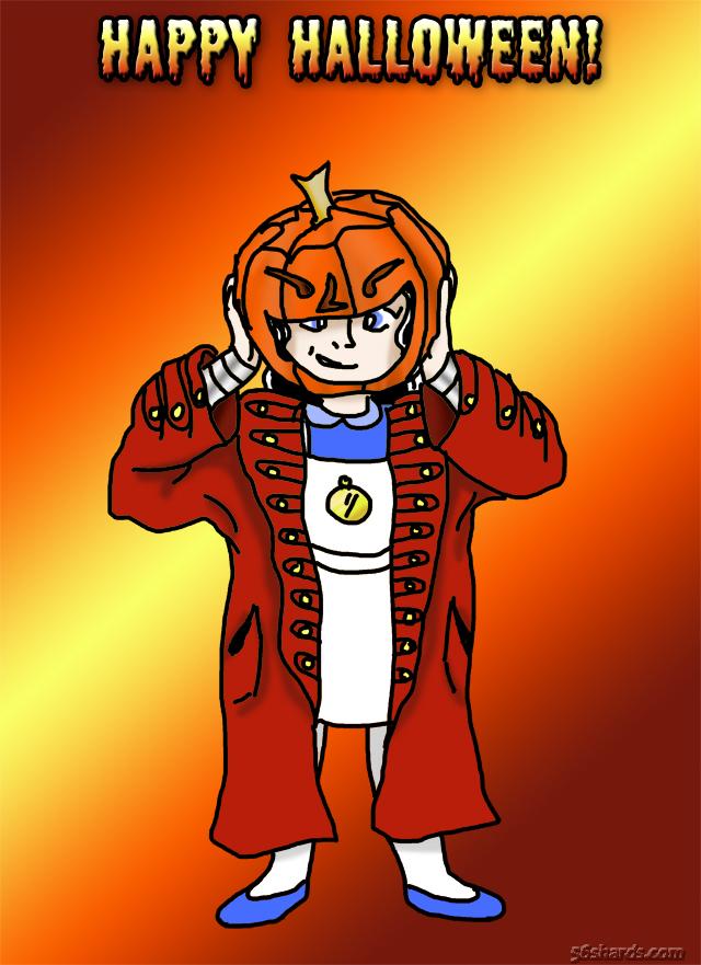 Halloween 2016: Alice as Jack-O-Lantern