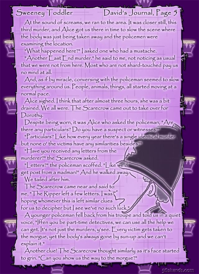 """Sweeney Toddler"" 19: David's Journal, Pg.5"
