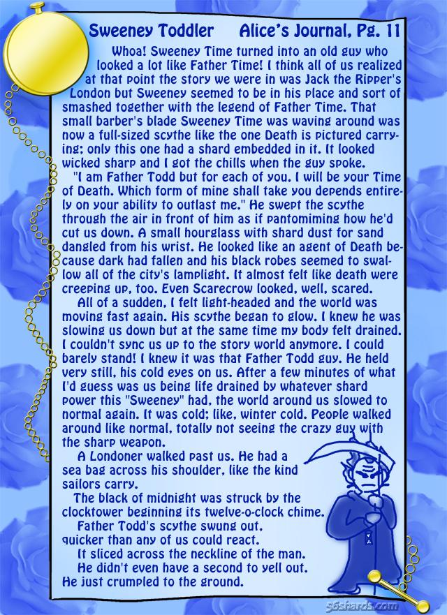 """Sweeney Toddler"" 34: Alice's Journal, Pg.11"