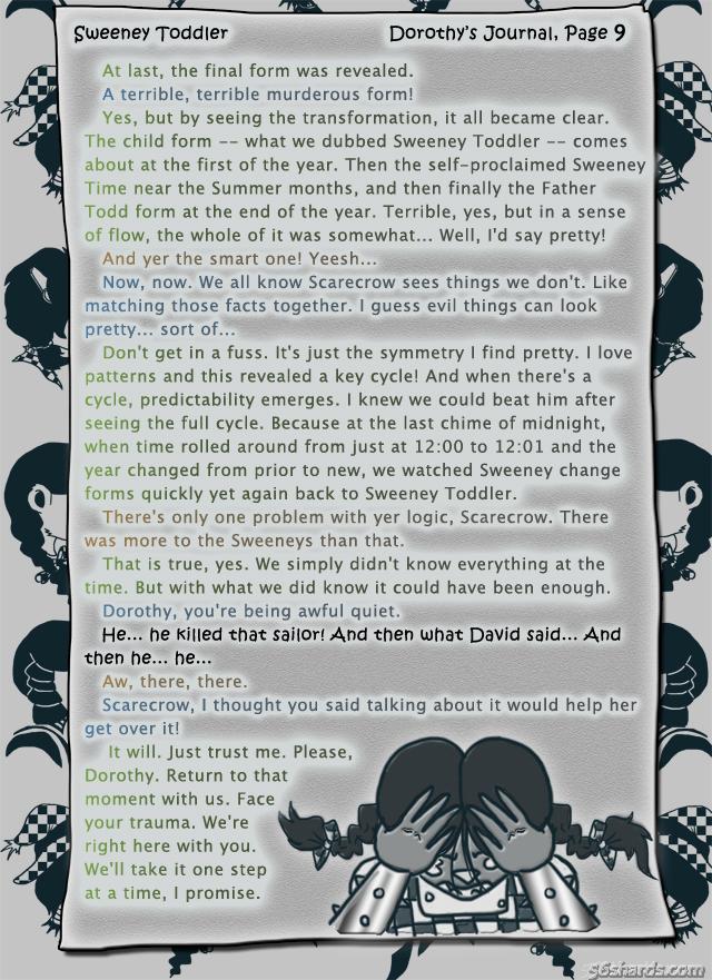 """""""Sweeney Toddler"""" 35: Dorothy's Journal, Pg.9"""