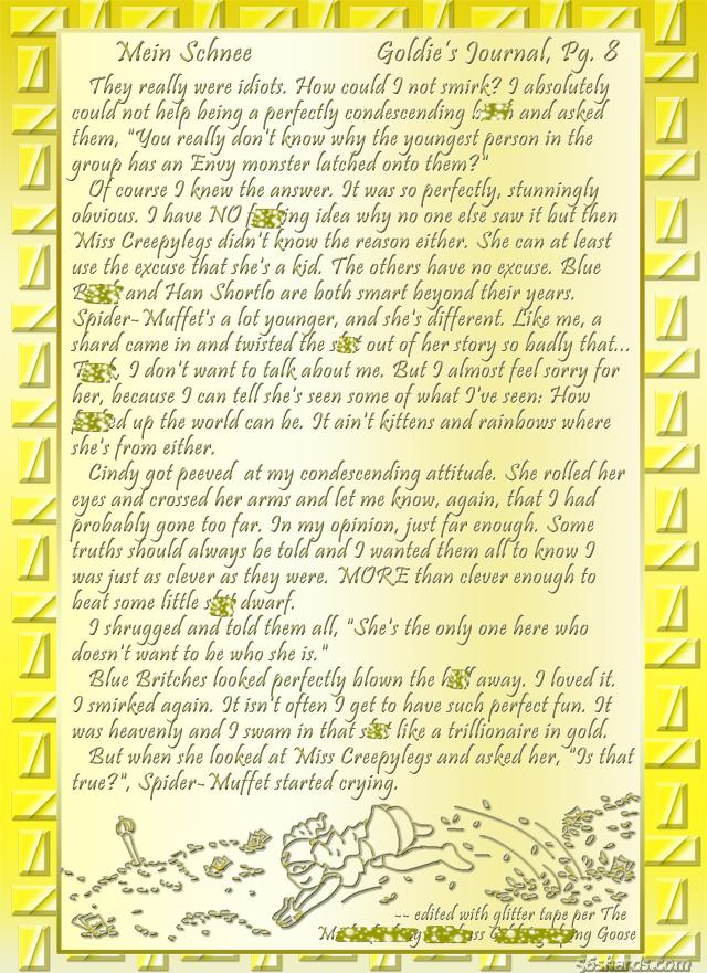 """""""Mein Schnee"""" 44: Goldie's Journal, Pg.8"""